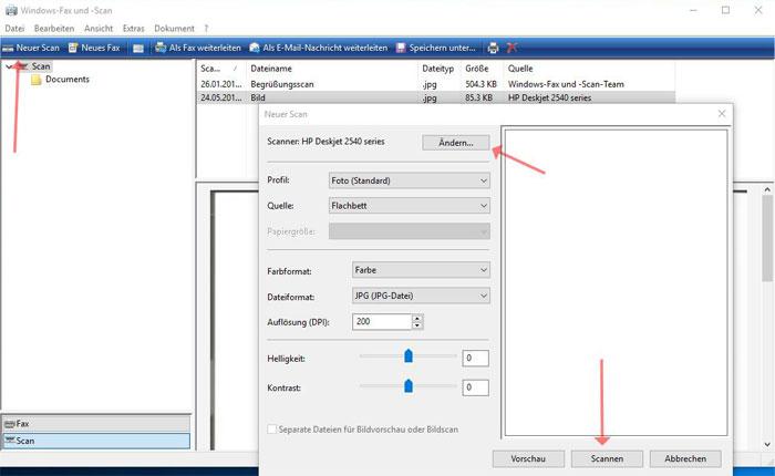 Windows 10 Dokumente Scannen