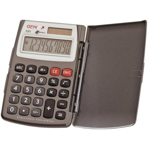 10-stelliger Taschenrechner mit Dual-Power (Solar und Batterie) und Klappdeckel