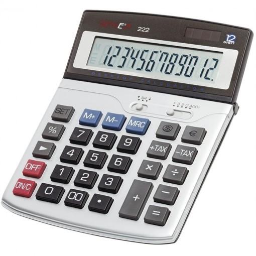 12-stelliger Business-Tischrechner mit Dual-Power (Solar und Batterie)