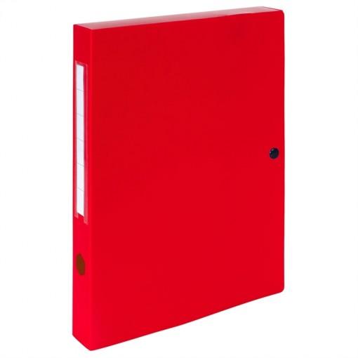 Archivbox mit Druckknopf aus PP 700µ, Rücken 40mm, blickdicht, 25x33cm für DIN A4