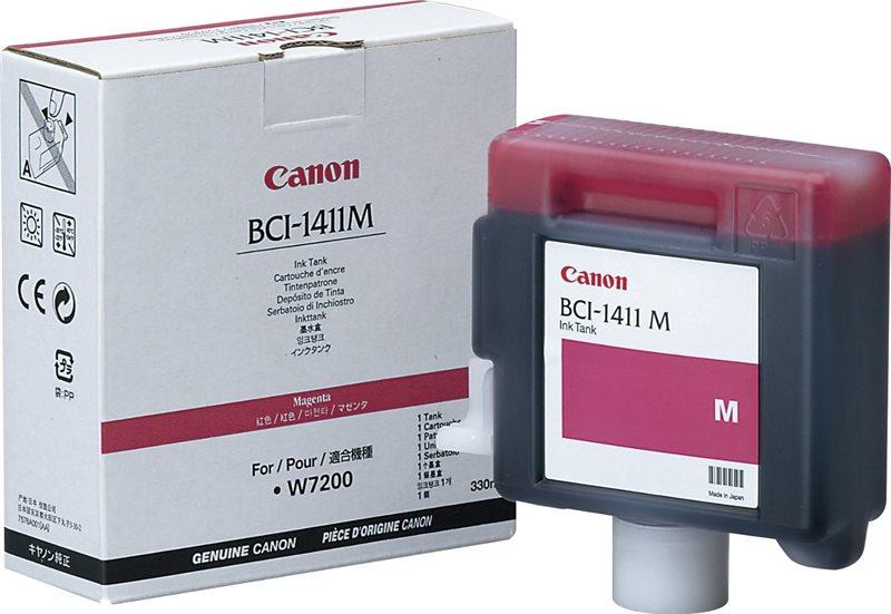 BCI-1411M  -  Tintenpatrone magenta f. Canon W7200