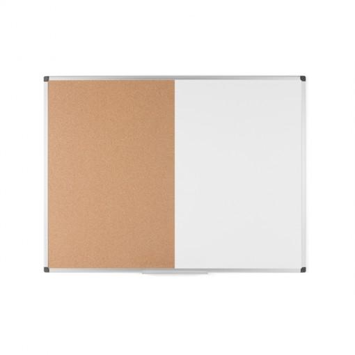 Bi-Office Kombitafel Kork/ magnetisch, trocken abwischbare Tafel, 90 x 60 cm