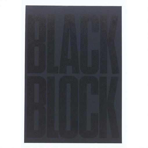 Black Block 70 Blatt mit gelbem Papier, blanko, DIN A4 21x29,7cm
