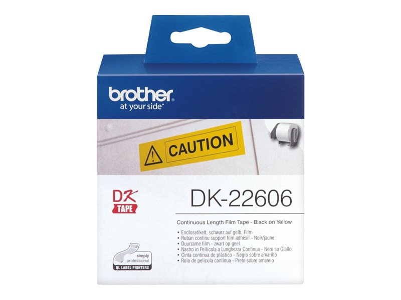 Brother Original - Etikettenrolle gelb 6,2cm x 15,