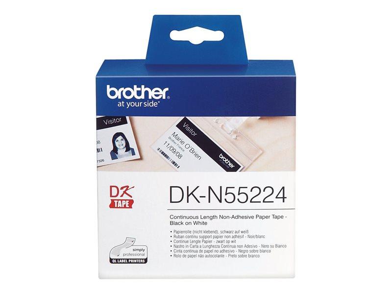 Brother Original - Etikettenrolle schwarz auf weiß