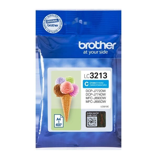 Brother Original - HC Tinte cyan -  LC3213C