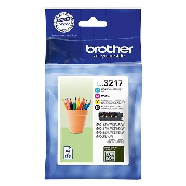 Brother Original - Tinte BKCMY -  LC3217VALDR