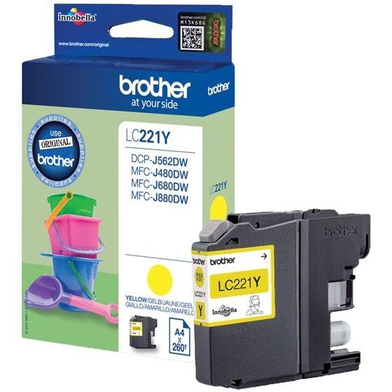 Brother Original - Tinte gelb -  LC221Y