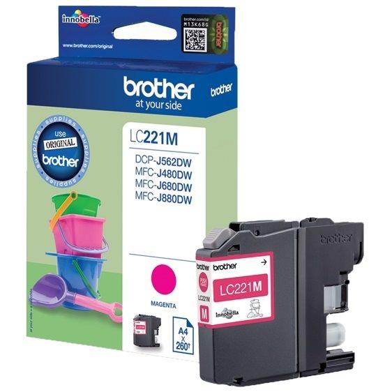Brother Original - Tinte magenta -  LC221M