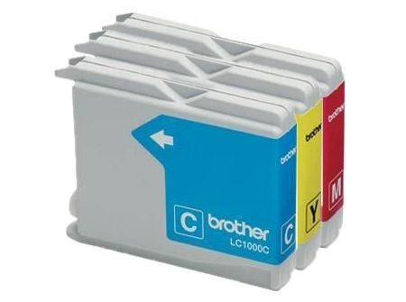 Brother Tinte farbig 3erPack (CMY) , LC1000CMY