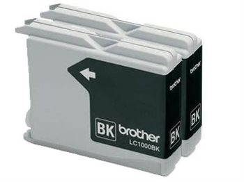 Brother Tinte schwarz 2erPack , LC1000BKP2