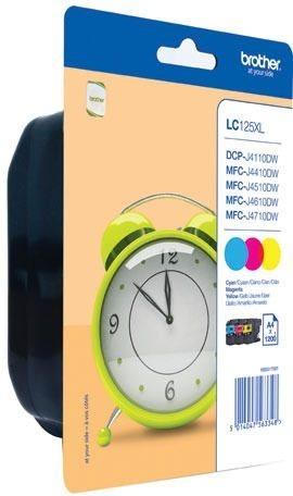 Brother Tintenset XL farbig, LC125XLRBWBPDR