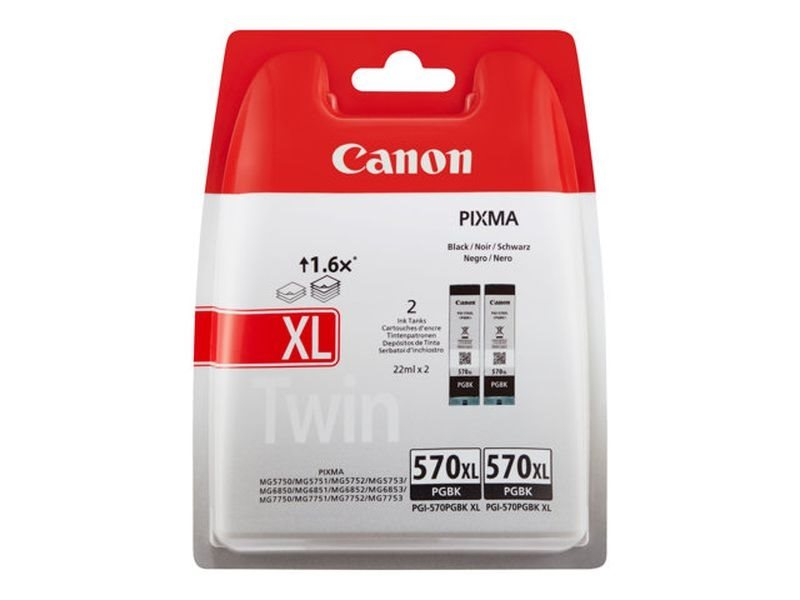 Canon Original 2er pack Tinte schwarz PGI570PGBKXL