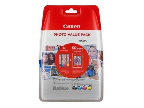 Canon Original - Photo Value Pack CMYBK CLI-571XL