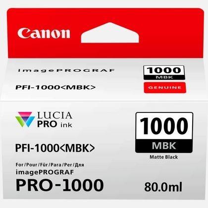 Canon Original - Tinte matt schwarz PFI-1000MBK