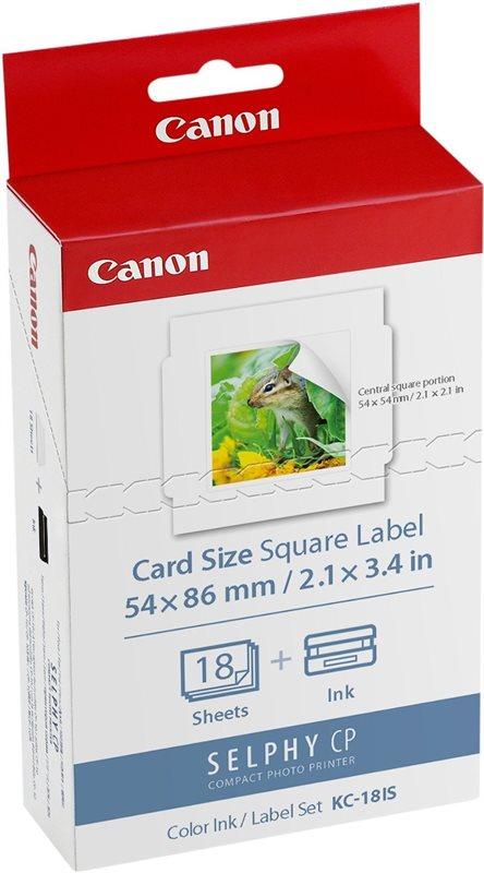 Canon Original - Tinte Papier-Kit  KC-18IS - 54 x 86 mm - 18 Seiten