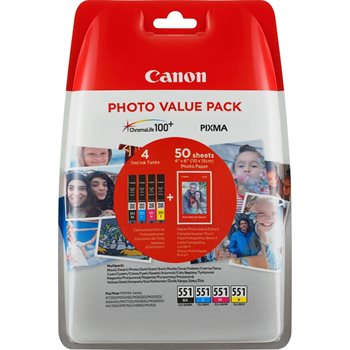 Canon Original Tinte Tinte + Fotopapier Value Pack