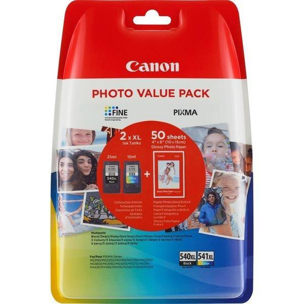 Canon XL Tinten schwarz + color PG-540XLPACK