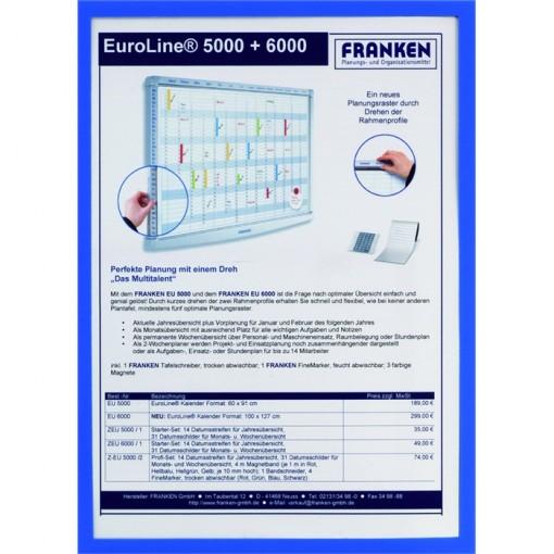Dokumentenhülle Frame It X-tra! Line, DIN A5, Hartfolie, matt, blau, 0,32 mm