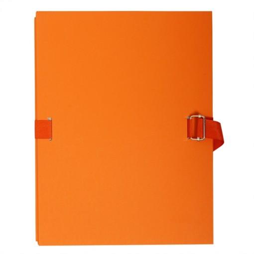 Dokumentenmappe aus kaschiertem Karton 2,7mm, dehnbarer Faltenrücken, 24x32cm für DIN A4
