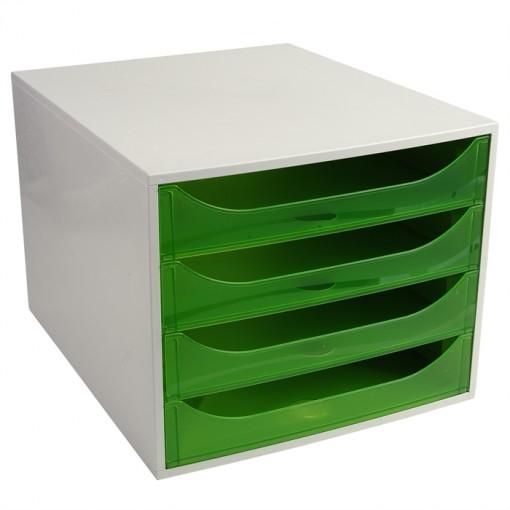 ECOBOX Schubladenbox mit 4 Laden