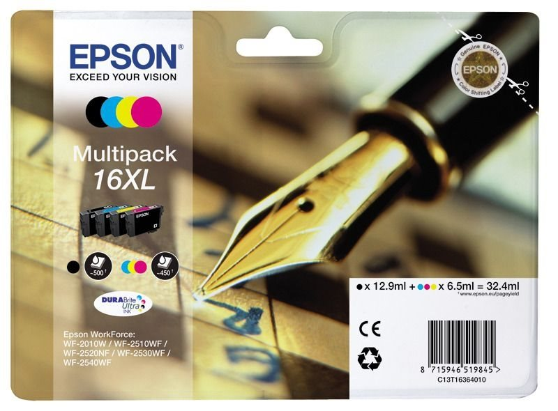 Epson Multipack 4 Farben 16XL Ultra Ink T1636