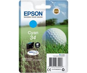 Epson Original - Tinte 34 cyan -  C13T34624010