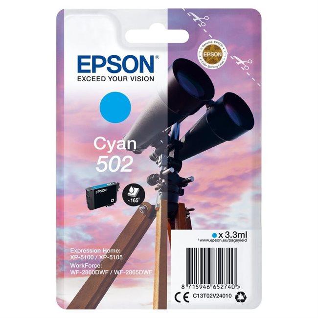 Epson Original 502 Tinte cyan - C13T02V24010
