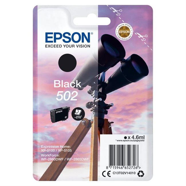 Epson Original 502 Tinte schwarz - C13T02V14010
