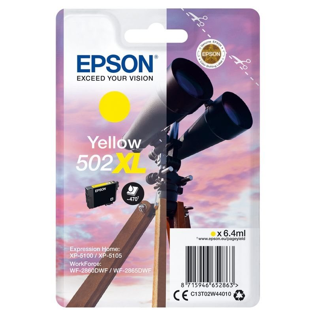 Epson Original 502XL Tinte gelb - C13T02W44010
