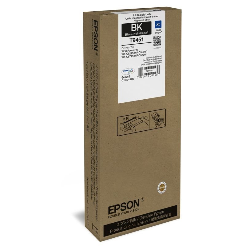 Epson Original - HC Tinte schwarz -  C13T945140