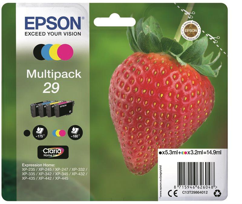 Epson Original - Tinte BK/C/M/Y - 29 Claria