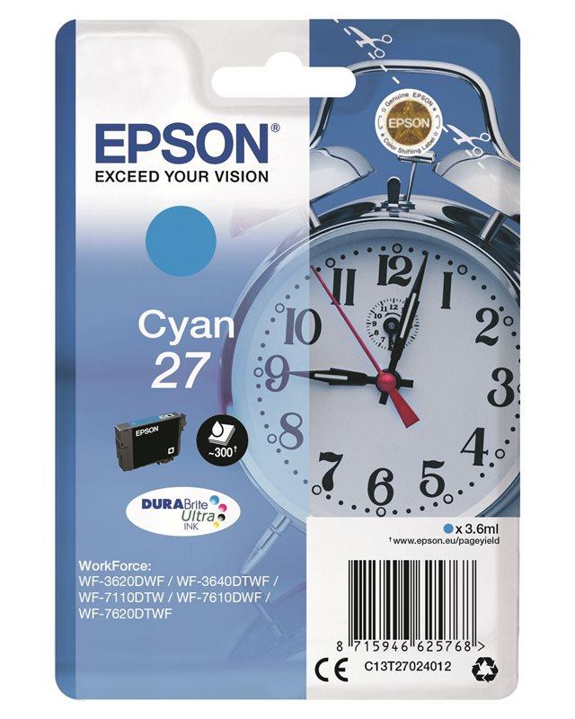 Epson Original - Tinte cyan - 27 DURABrite