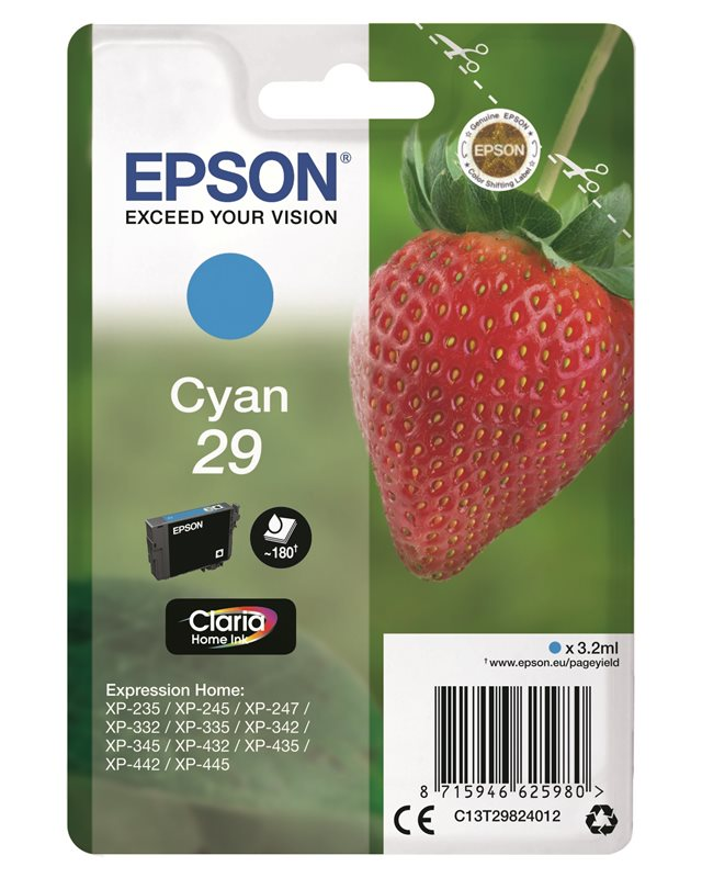 Epson Original - Tinte cyan - 29 Claria