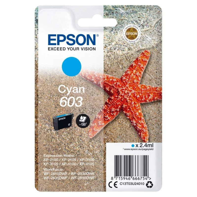 Epson Original Tinte cyan 603 - C13T03U24010
