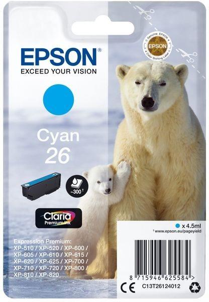 Epson Original - Tinte cyan -  C13T26124012