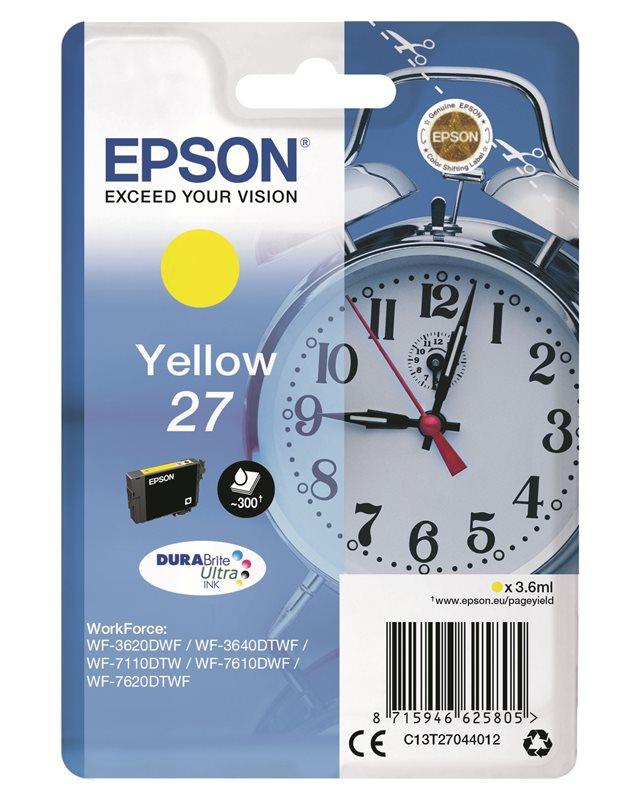 Epson Original - Tinte gelb - 27 DURABrite