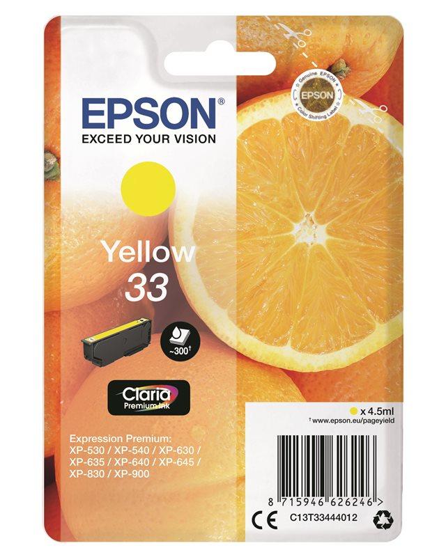 Epson Original - Tinte gelb - 33 Claria