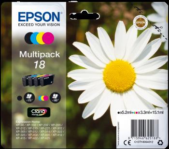 Epson Original Tinte Multipack 18 BK/C/M/Y - C13T18064012