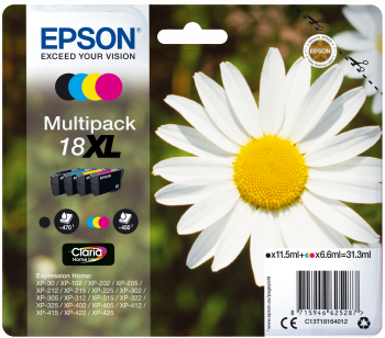 Epson Original Tinte Multipack 18XL BK/C/M/Y - C13T18164012