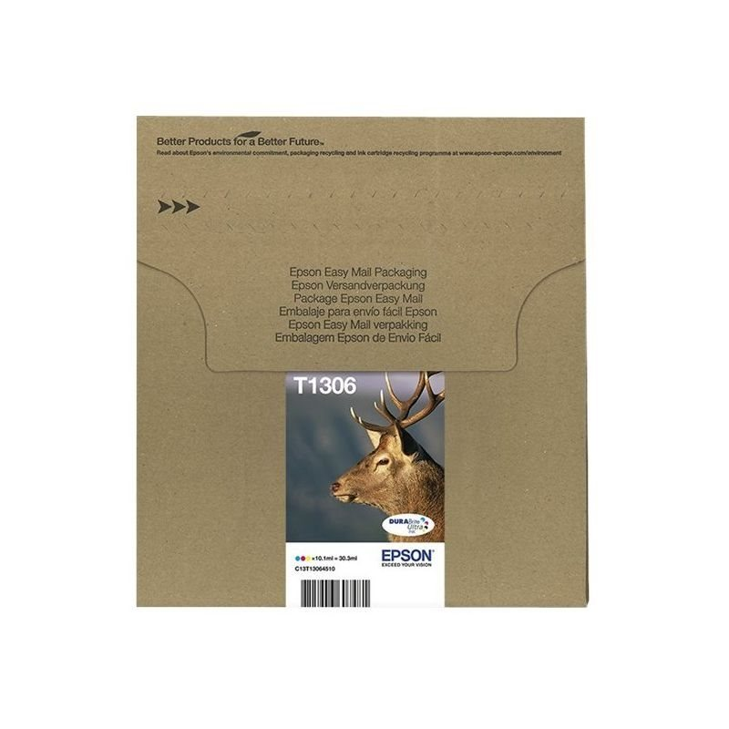 Epson Original Tinte Multipack cmy Easy Mail Packaging T1306 - C13T13064510