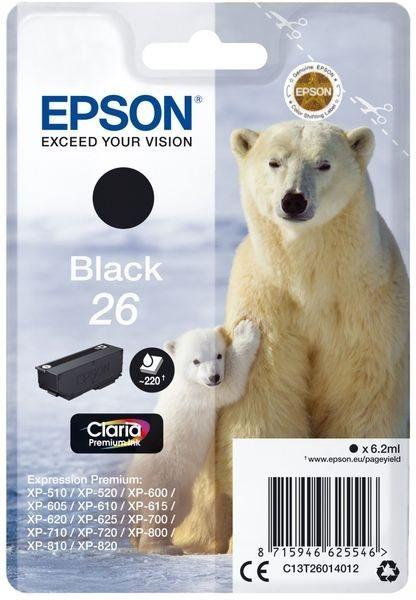 Epson Original - Tinte schwarz -  C13T26014012