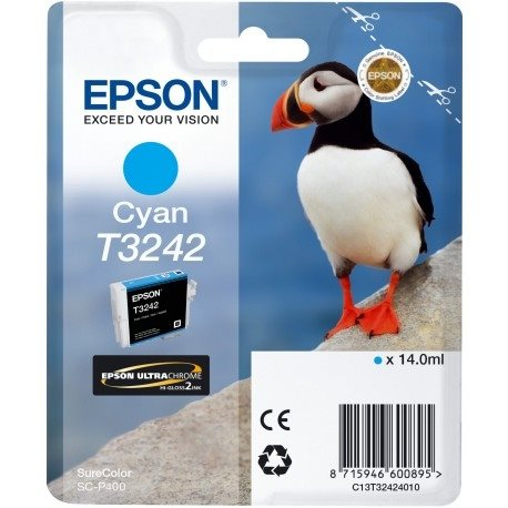 Epson Original - Tinte T3242 cyan -  C13T32424010