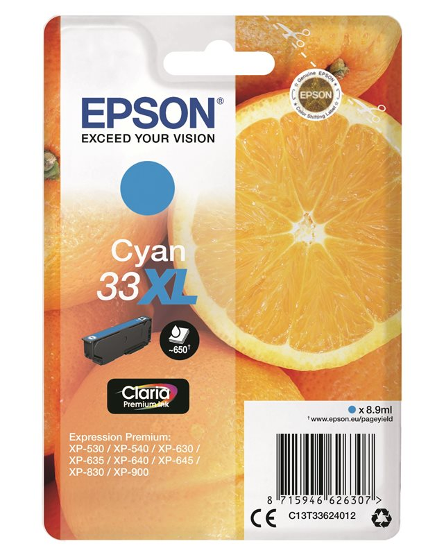 Epson Original - Tinte XL cyan - 33 Claria