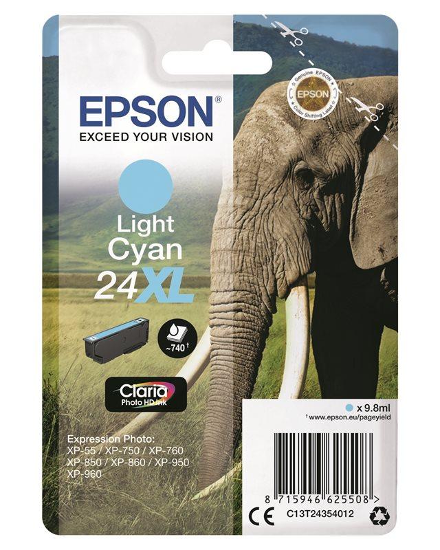 Epson Original - Tinte XL hell cyan - 24 Claria