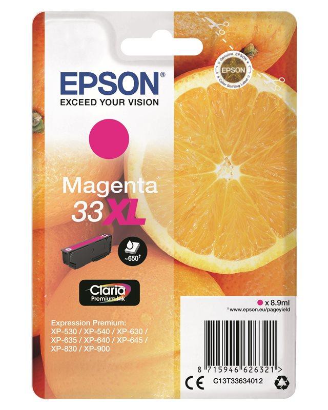 Epson Original - Tinte XL magenta - 33 Claria