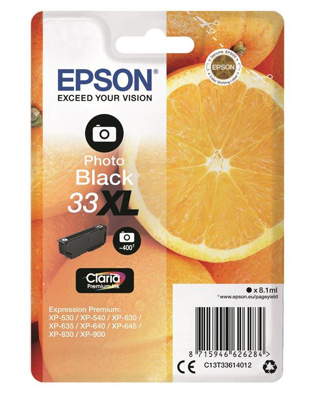 Epson Original - Tinte XL Photo schwarz-33 Claria