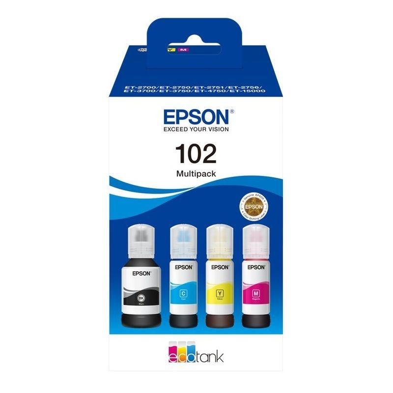 Epson Original Tinten-Multipack BK/C/M/Y 102 - C13T03R640