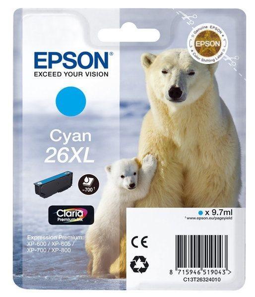 Epson Singlepack cyan 26XL Claria T2632