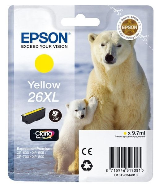 Epson Singlepack gelb 26XL Claria T2634